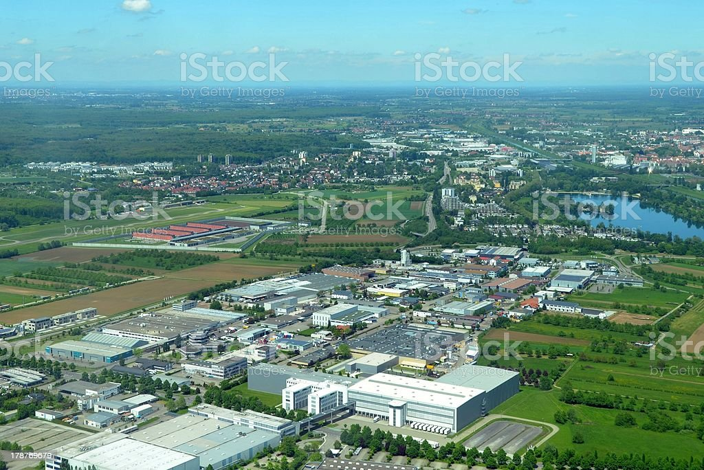 Offenburg aerial stock photo