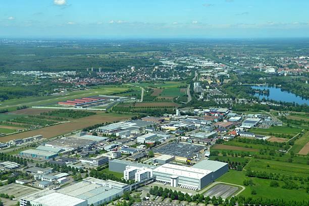 offenburg aerial - industriegebied stockfoto's en -beelden