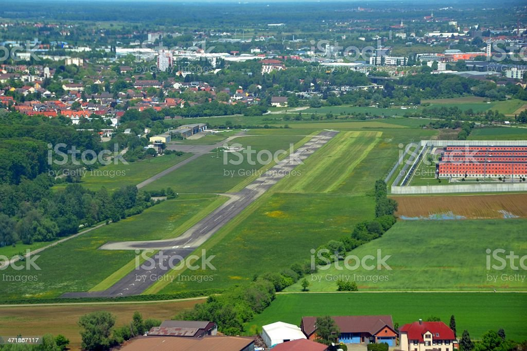 Offenburg Airport aerial royalty-free stock photo