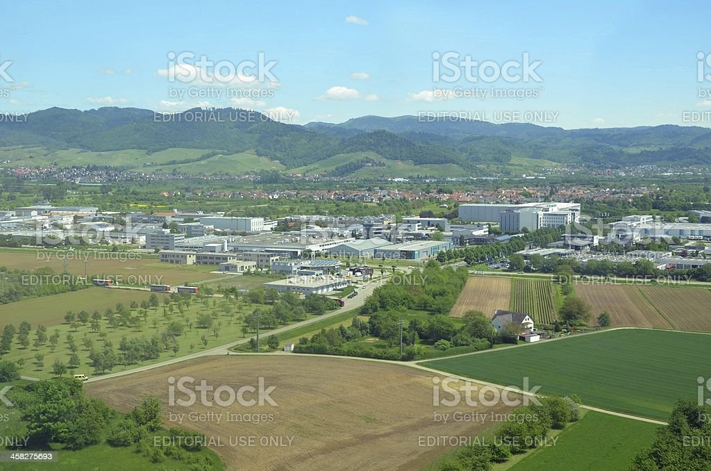 Offenburg Industrial, aerial stock photo