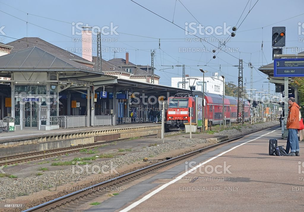 Offenburg Train Station royalty-free stock photo