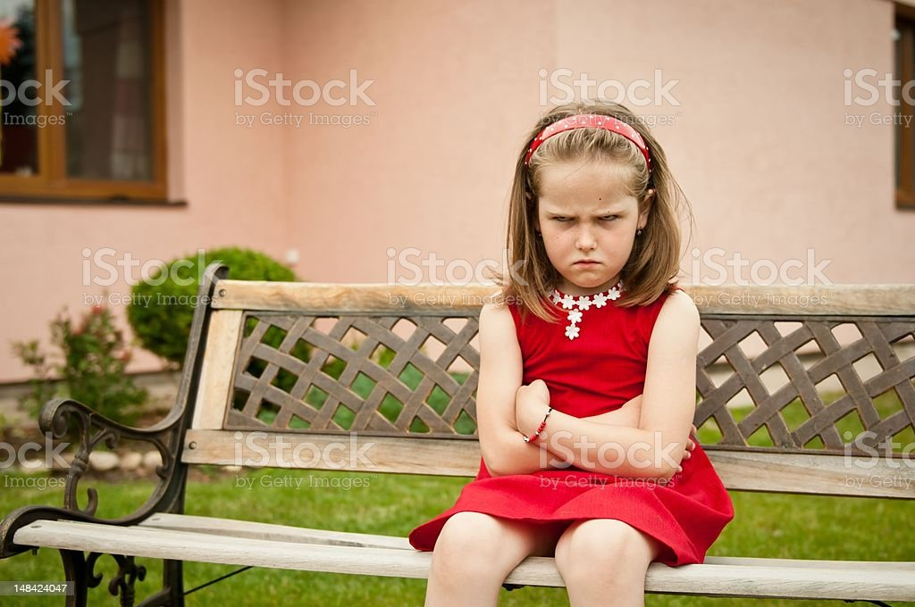 Offended child portrait royalty-free stock photo