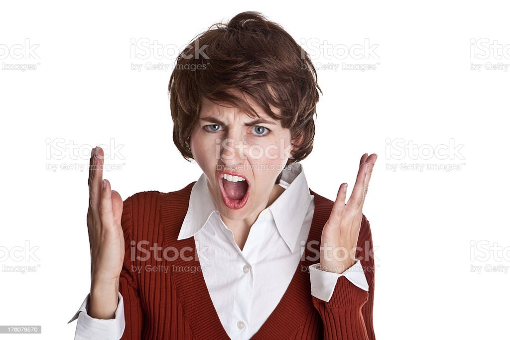Offended Soccer Mom royalty-free stock photo