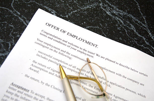 Offer of Employment stock photo