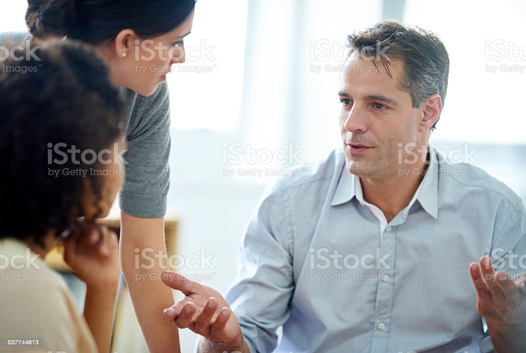 Offering a few experienced pointers stock photo
