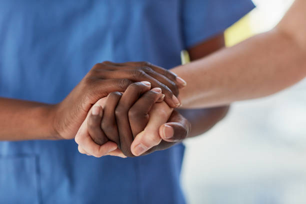 Offering a patient the care and comfort they need stock photo