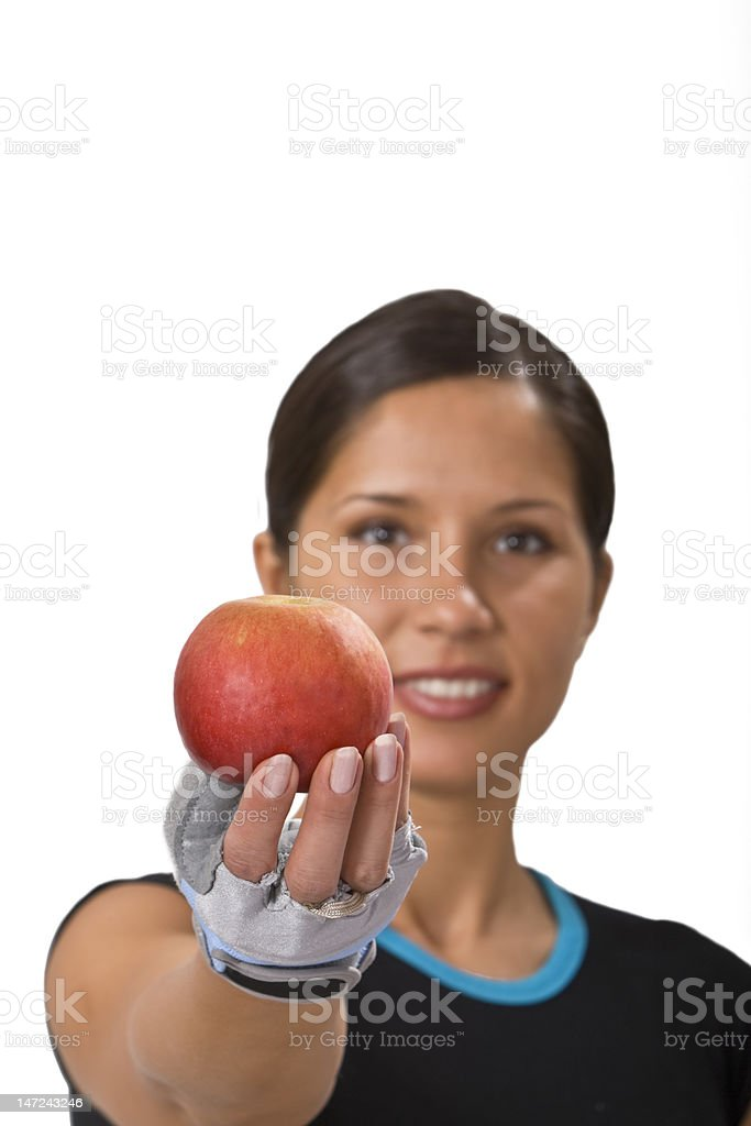 Offering an apple royalty-free stock photo