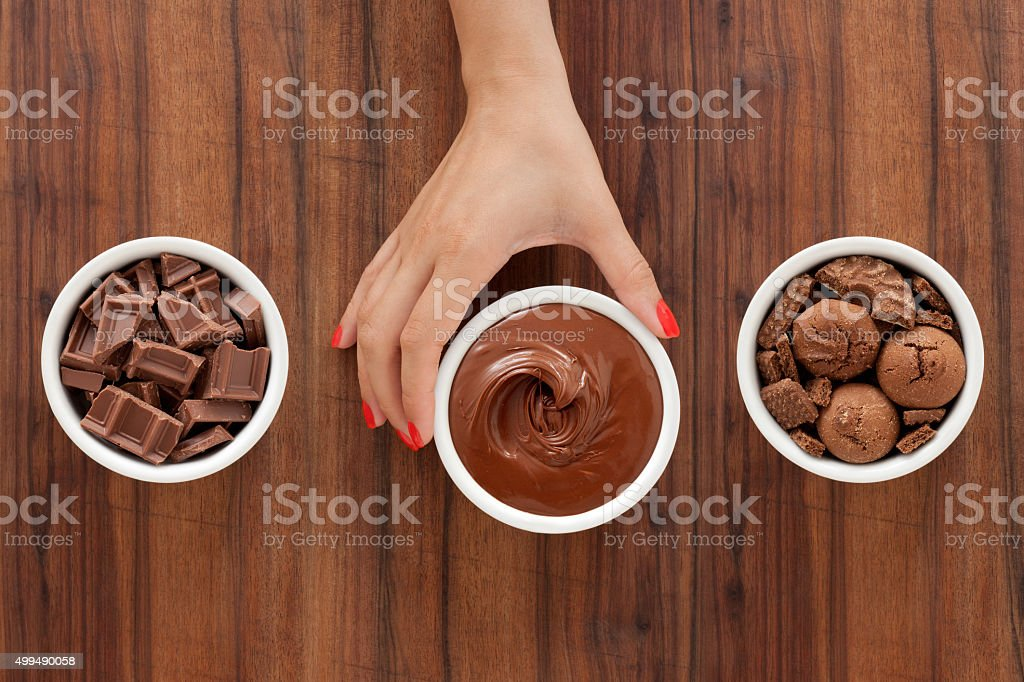 Offering chocolate foods stock photo
