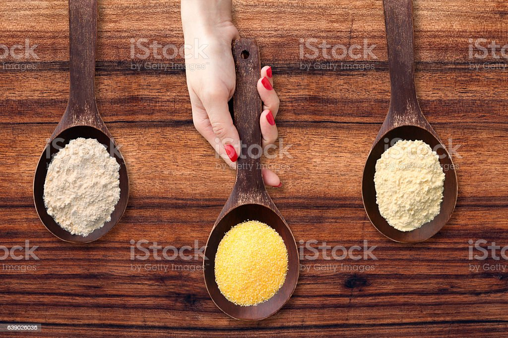 Offering flours stock photo