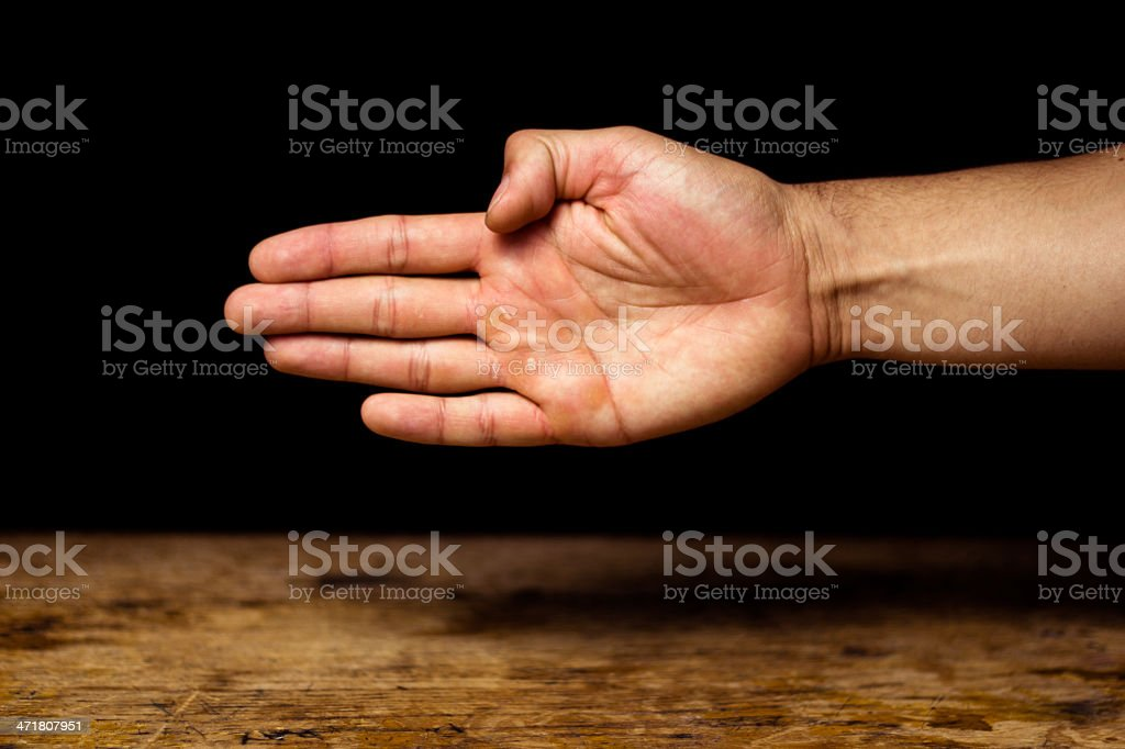 Offering handshake royalty-free stock photo