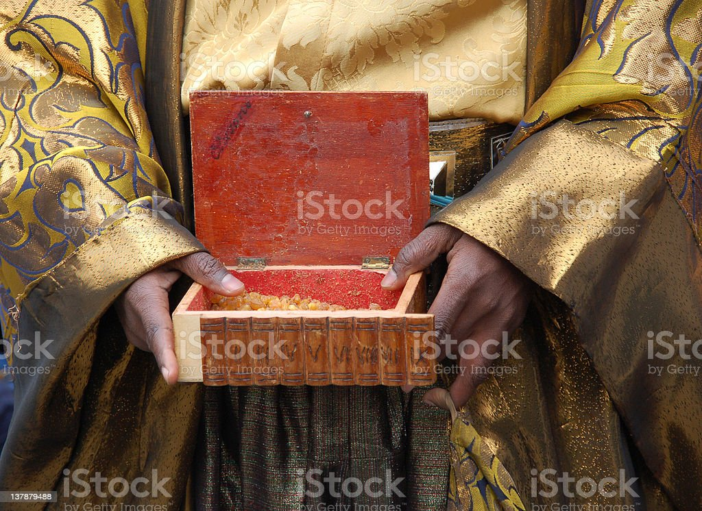 Offering mirra stock photo