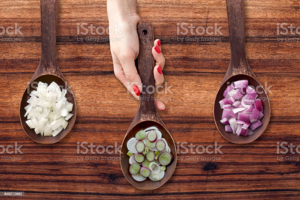 Offering onions stock photo