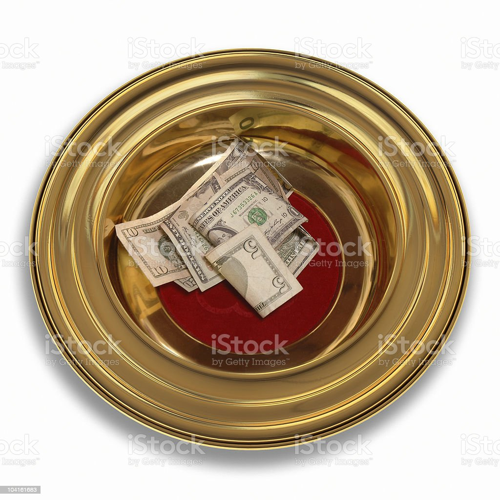 Offering Plate stock photo