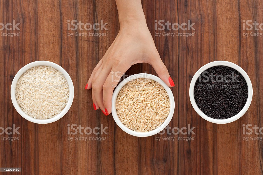 Offering rices stock photo