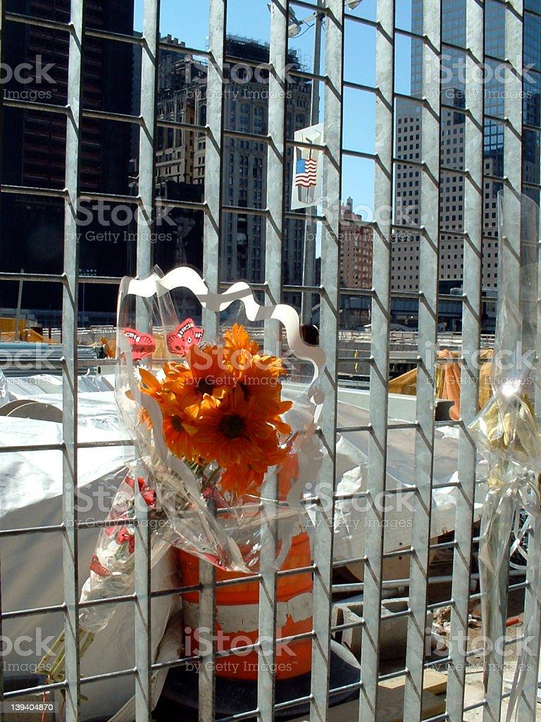Offering to ground zero royalty-free stock photo