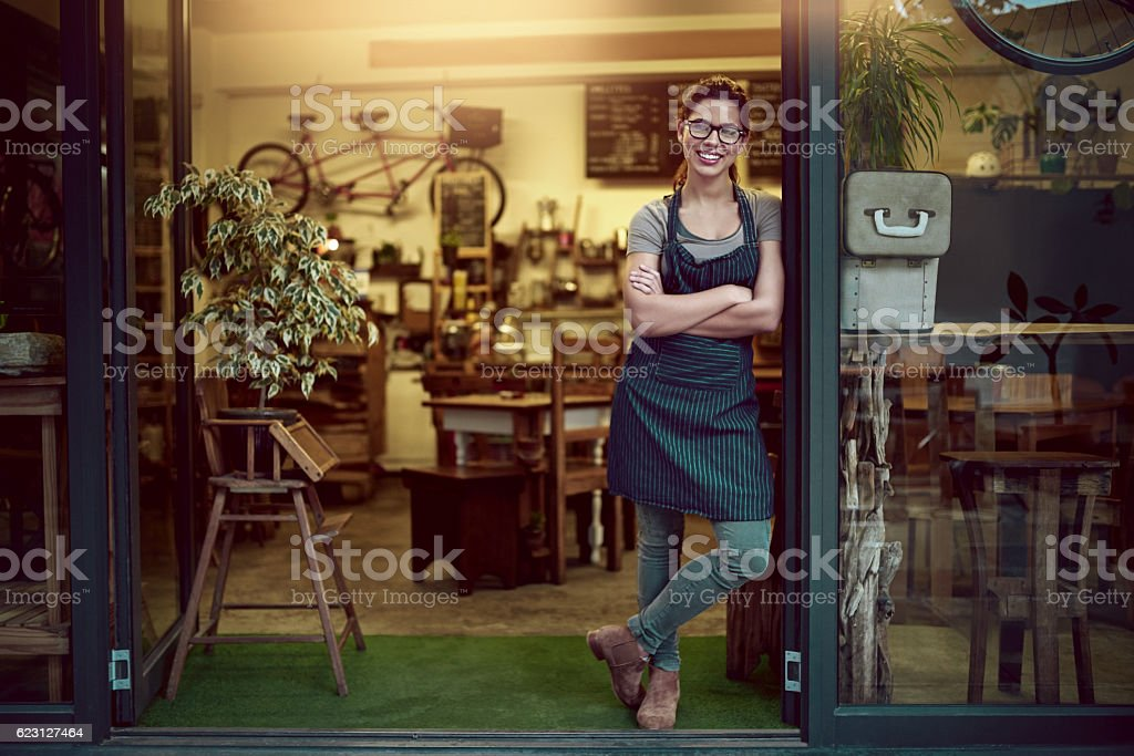 Offering you a great coffee experience stock photo