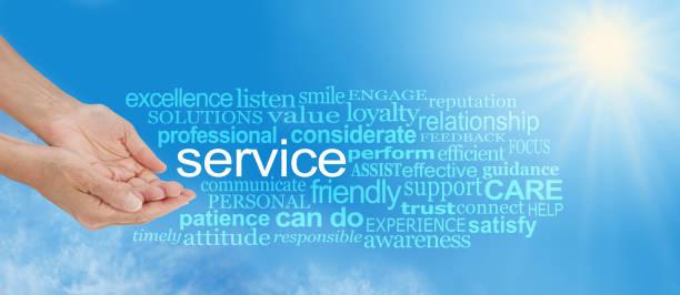 bieten sie service word cloud - feedback stock-fotos und bilder