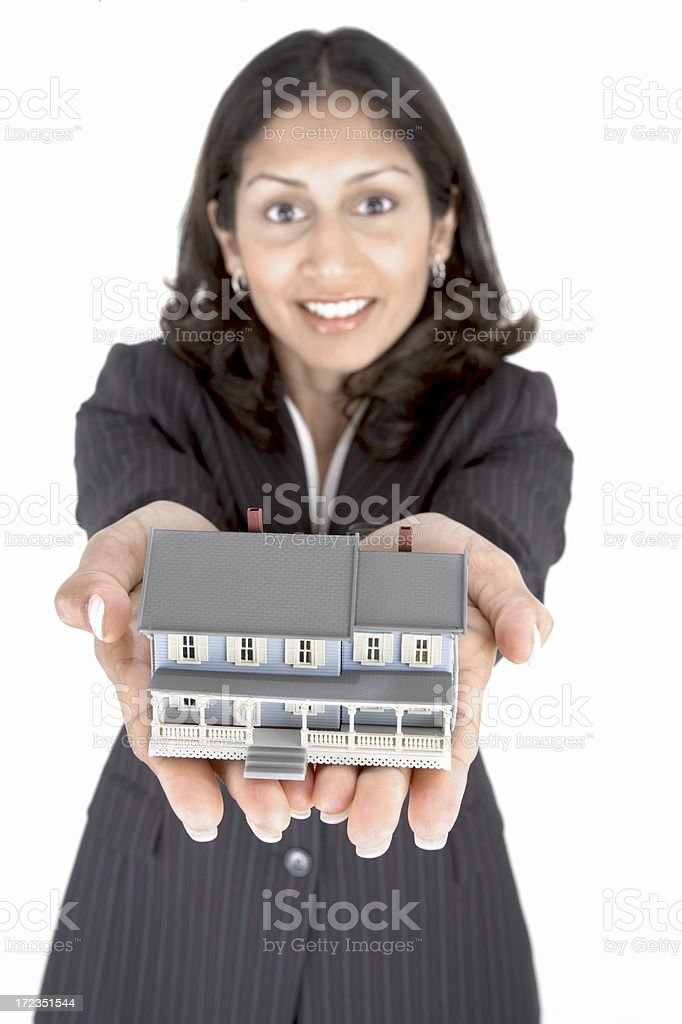 Offering you your dreamhouse royalty-free stock photo