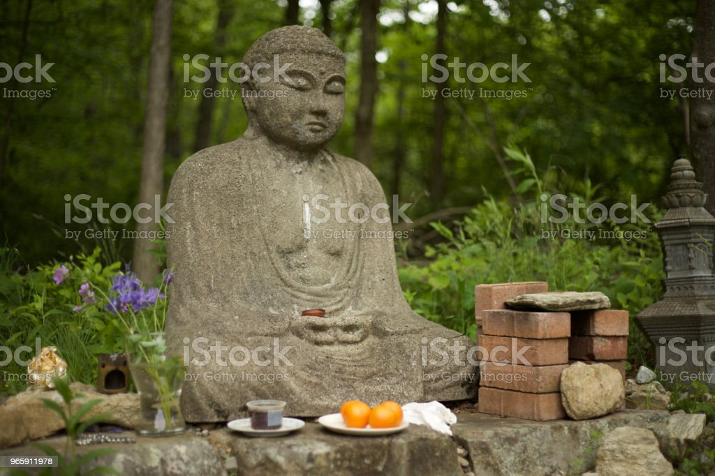Offerings to Buddha - Royalty-free Ancient Stock Photo