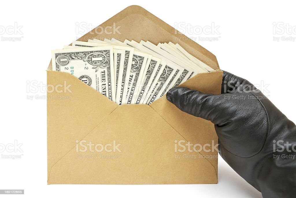 Offerning a Bribe royalty-free stock photo