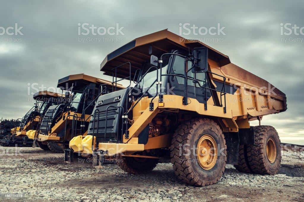 Off-Highway Dump Trucks royalty-free stock photo