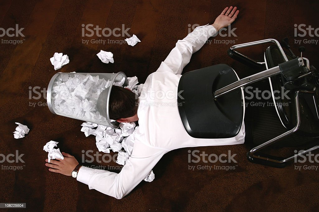 office accident royalty-free stock photo