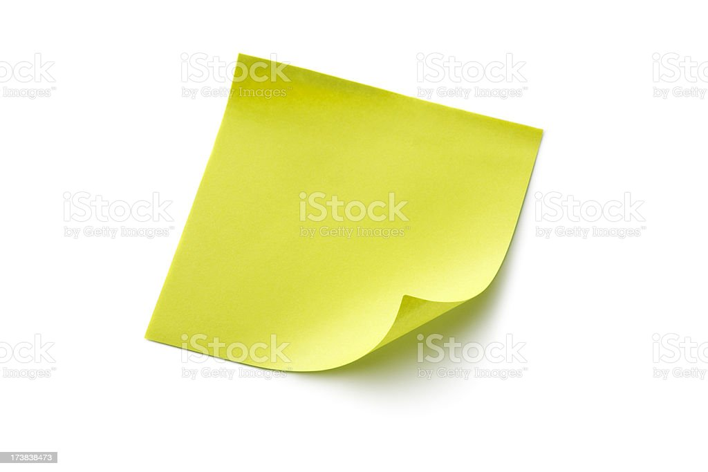 Office: Adhesive Note royalty-free stock photo