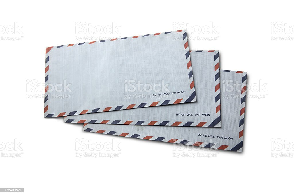 Office: Air Mail Envelopes royalty-free stock photo