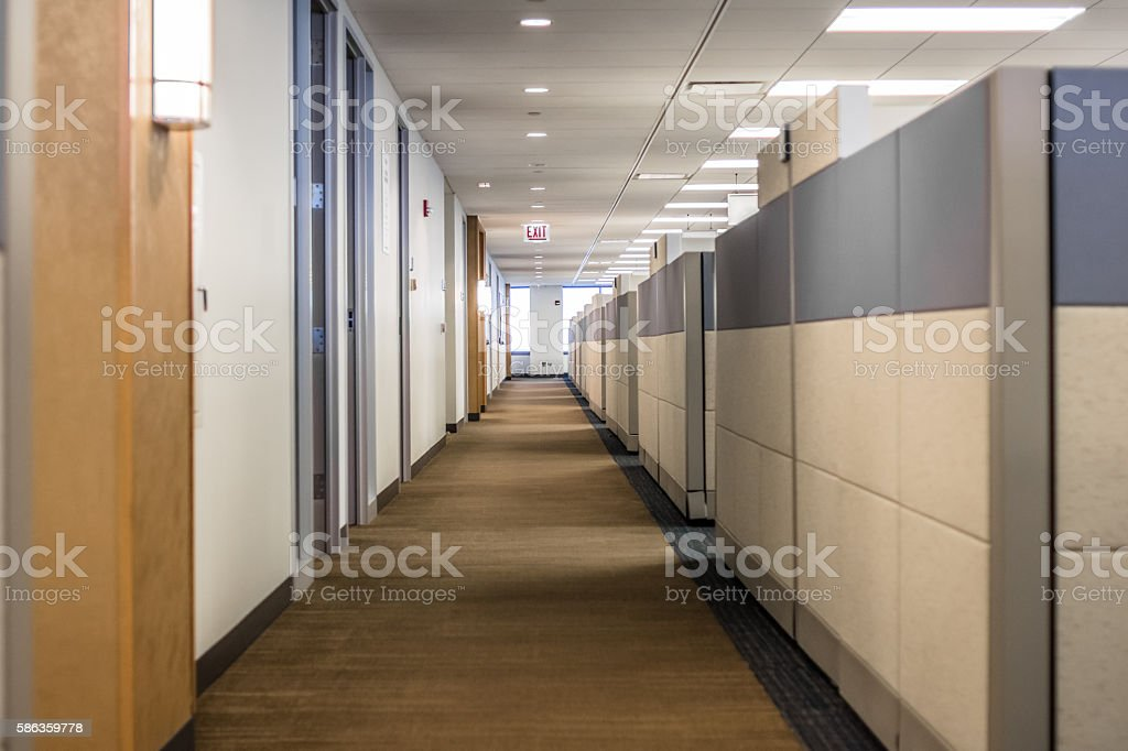 Office Aisle stock photo