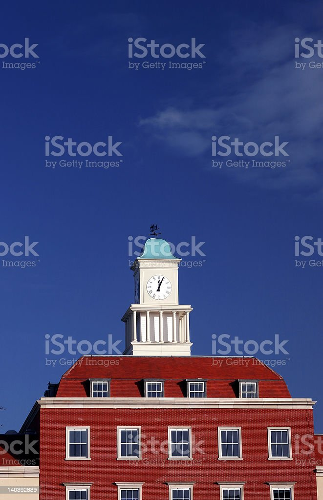 office and clock tower royalty-free stock photo