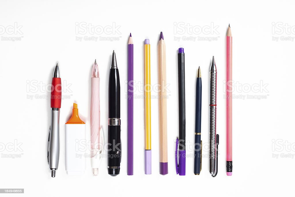 office and education supplies stock photo