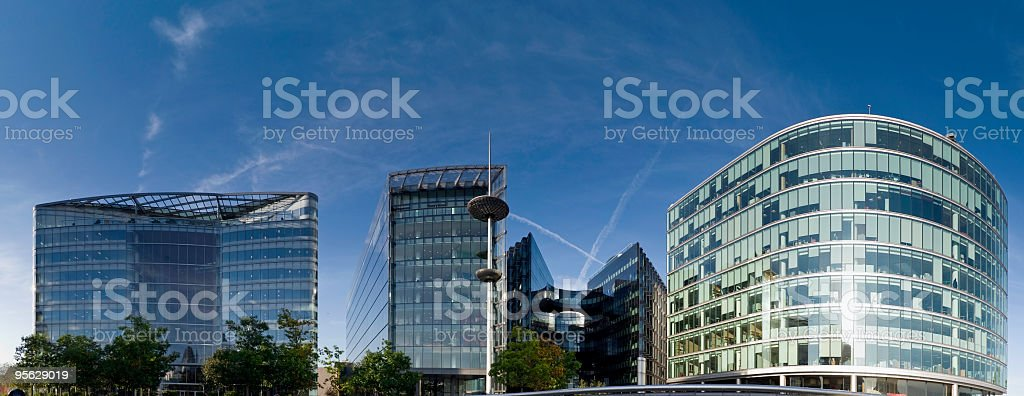 Office and retail complex, London stock photo