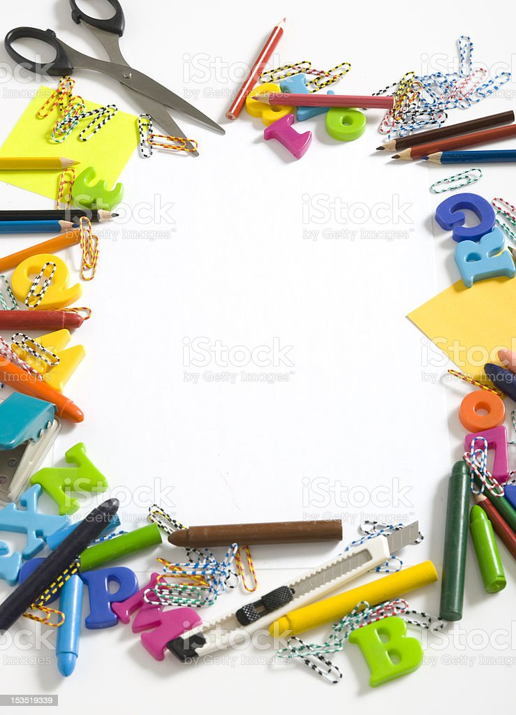 Office And Student Utensils royalty-free stock photo