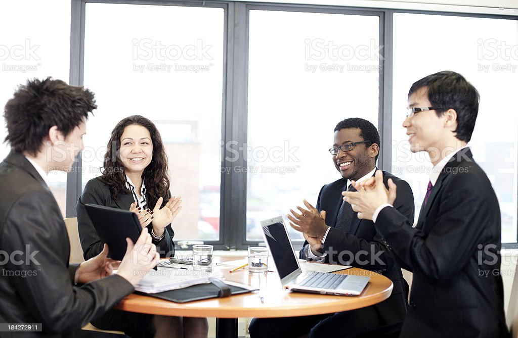 Office applause royalty-free stock photo