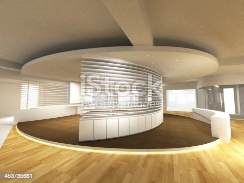 908258590 istock photo Office Area with Reception Counter 453735661