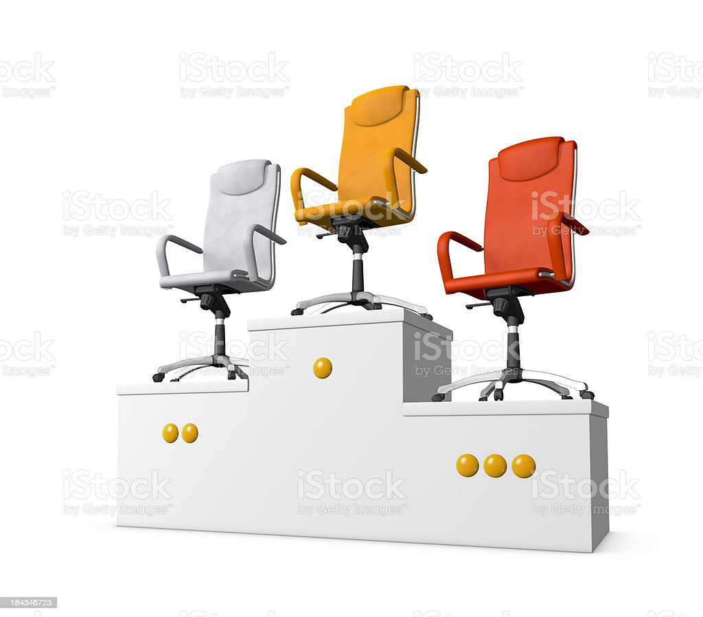 Office armchairs royalty-free stock photo