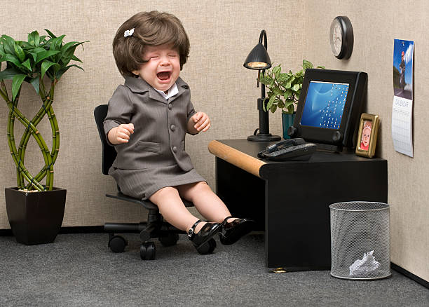 office babe - humor stock photos and pictures