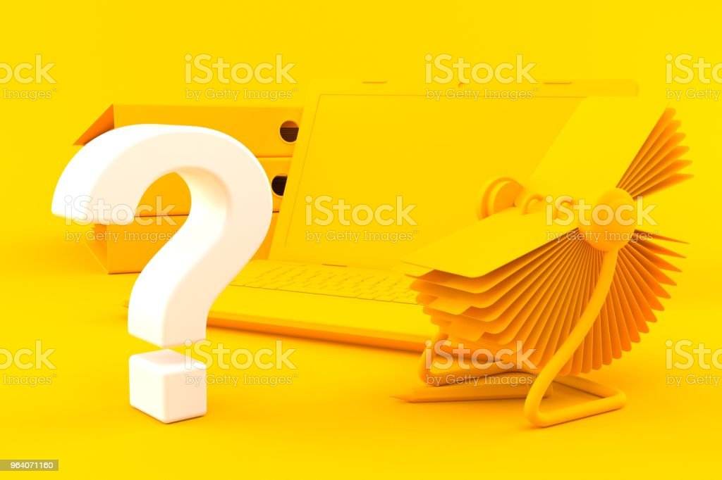 Office background with question mark - Royalty-free Accountancy Stock Photo