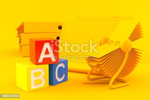 istock Office background with toy blocks 905426204