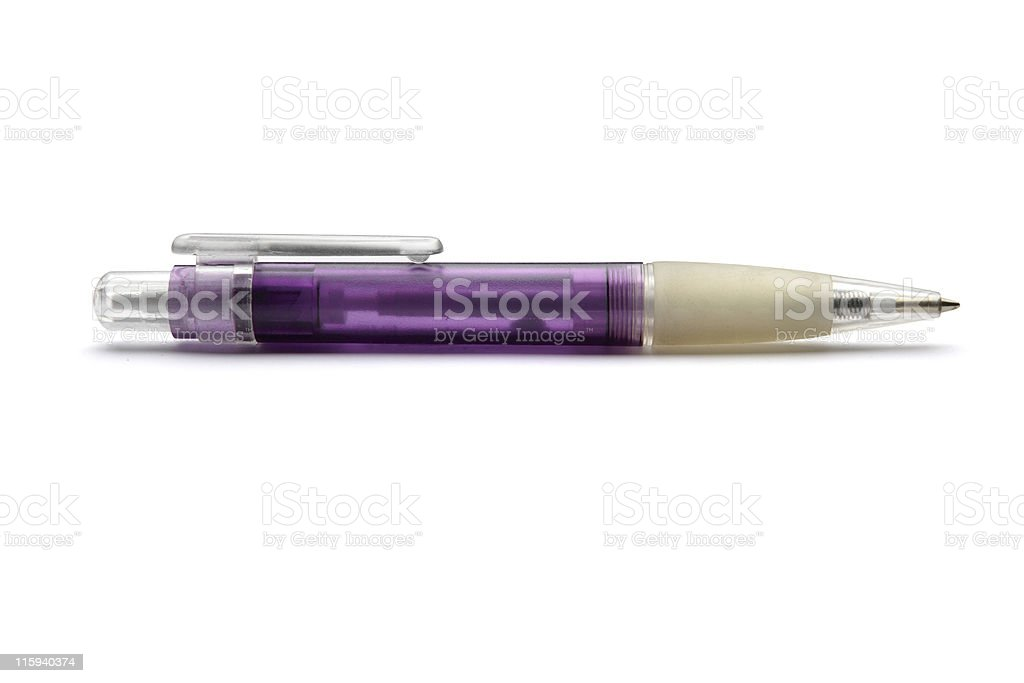 Office: Ballpoint Pen Isolated on White Background royalty-free stock photo