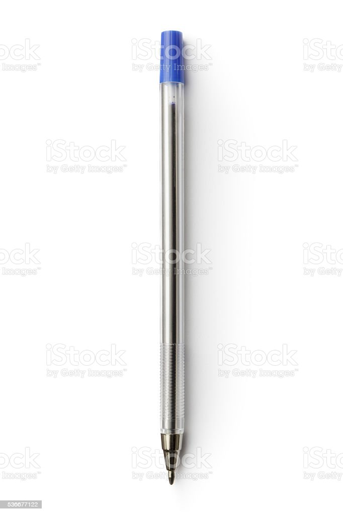 Office: Ballpoint Pen Isolated on White Background stock photo