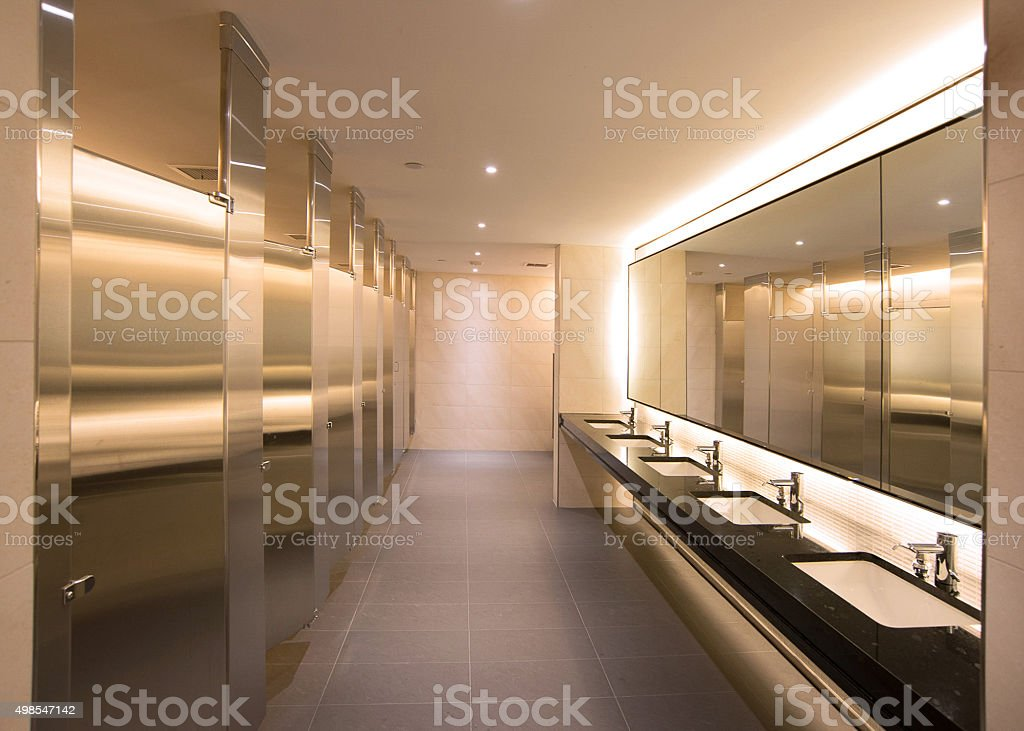 office bathroom stock photo