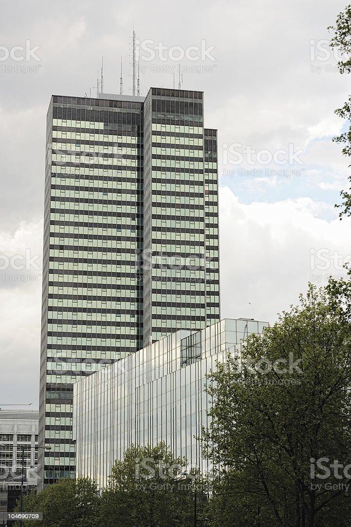 Office blocks on Euston Road, London, England, UK stock photo