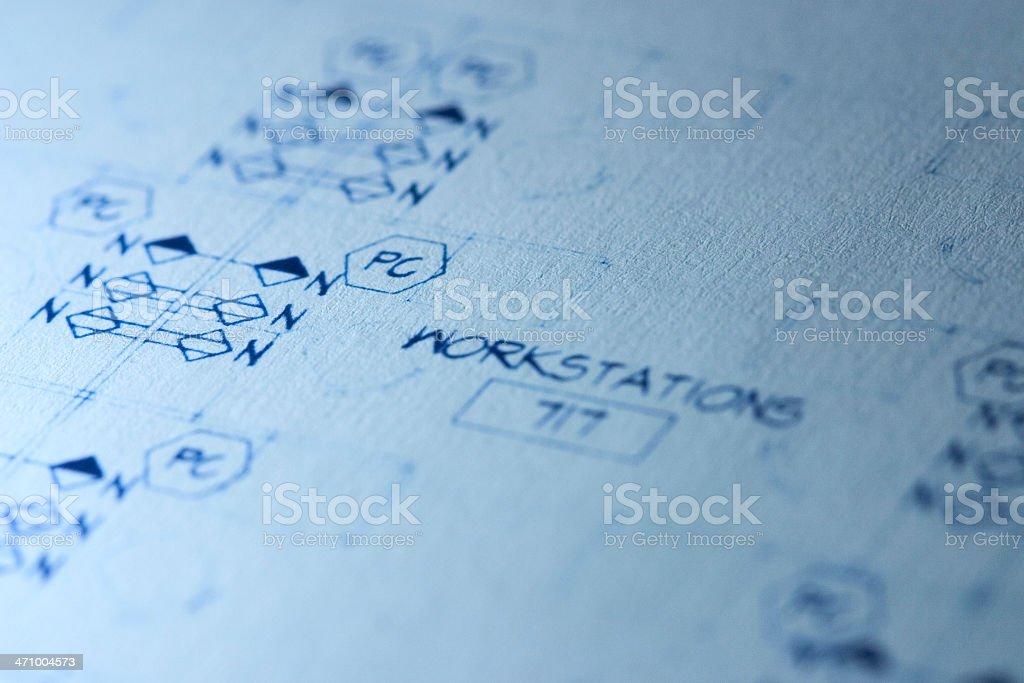 Office Blueprint royalty-free stock photo