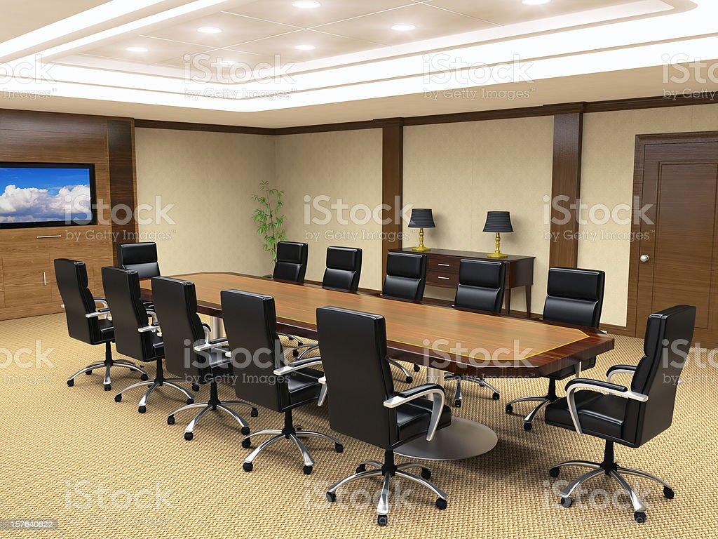 Office Board Room Interior royalty-free stock photo