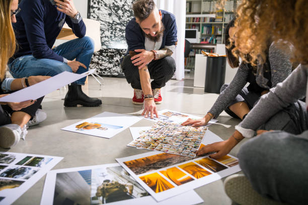 Office brainstorming teamwork stock photo