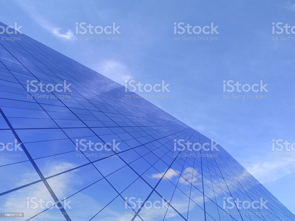 Office building against bright sky royalty-free stock photo