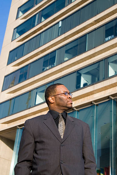 Office Building and Business Man stock photo