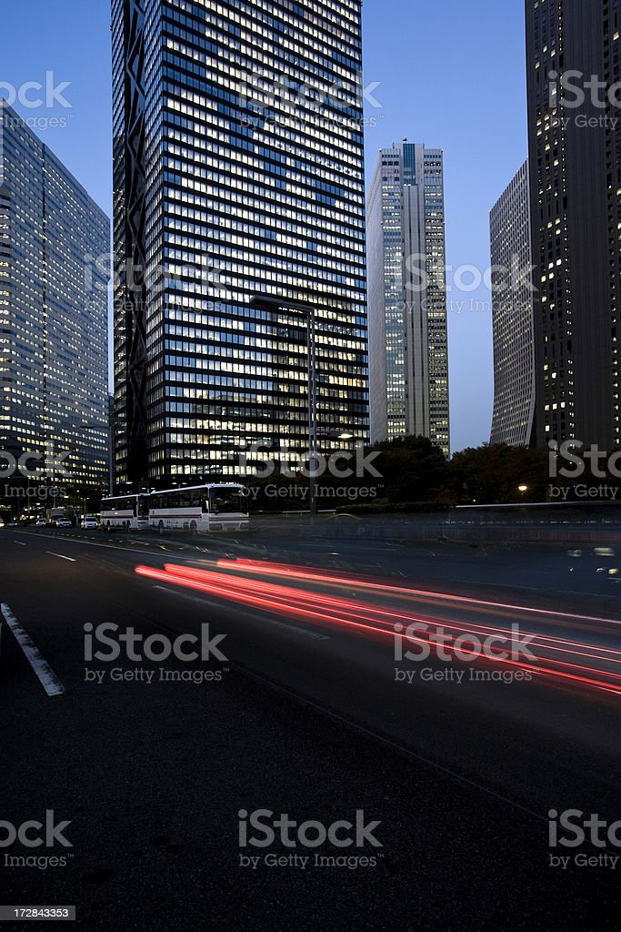 Office Building at dusk royalty-free stock photo