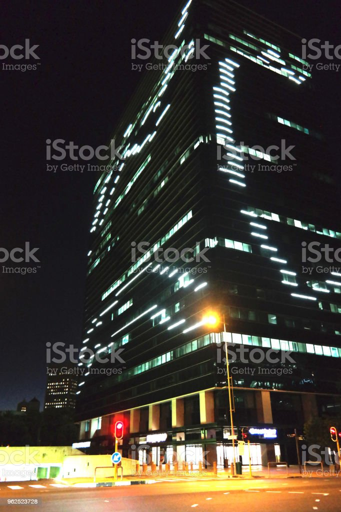 Office Building at night in Cape Town - Royalty-free Cape Town Stock Photo